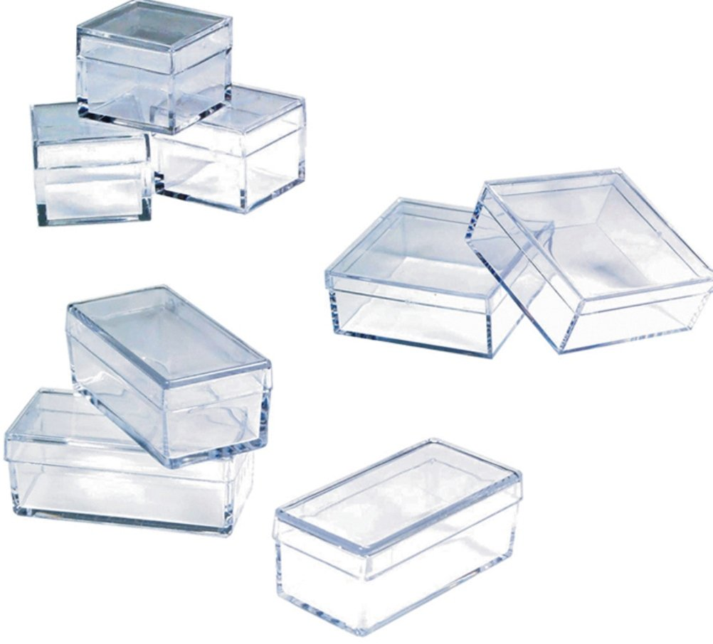 Plastic Boxes 3/4 X 1-3/4 X 3/4 Box of 100 by Grobet USA (Image #1)