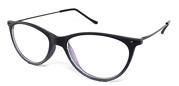 a69e6cfd059 Image Unavailable. Image not available for. Colour  Justkartit Glossy Black  Color Cat Eye Shape Women Full Rim Spectacle Frame (Medium Size Light