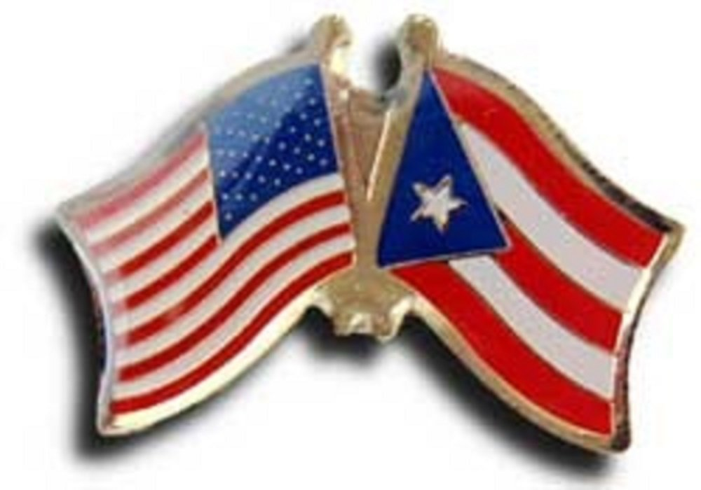 USA American Puerto Rico Rican Friends Flag Bike Motorcycle Hat Cap lapel Pin by AES (Image #1)