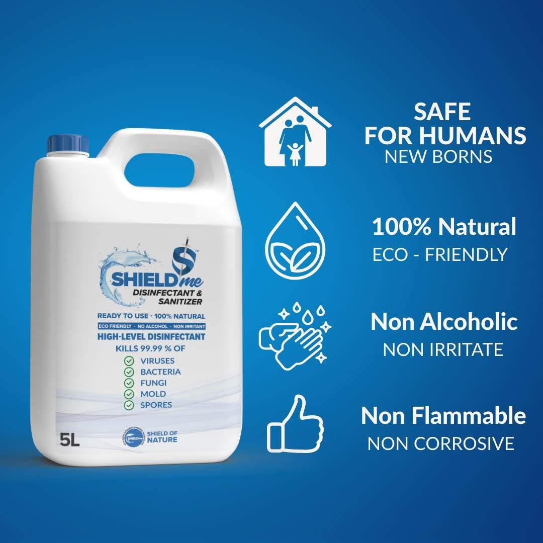 SHIELDme High Level Disinfectant & Sanitizer - 5L 4