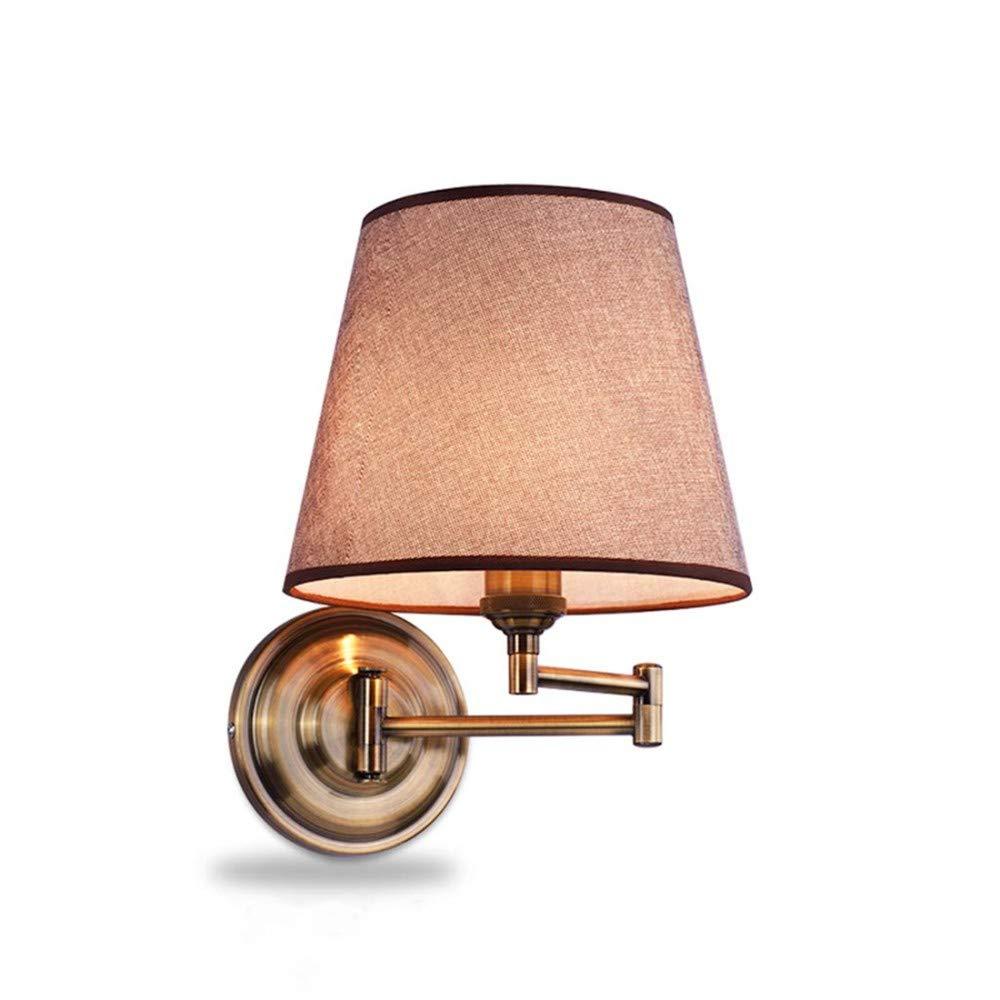 Lampada Lampada Pareteapplique Da Parete Lampade Da Parete Comodino Estensibile Per Letto Da Salotto Americano In Tessuto E27 FSWL