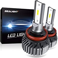 $36 » SEALIGHT H11 H8 H9 LED Headlight Bulbs, Fanless 6000K White, Easy Installation, Low Beam H16…