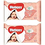 Huggies Soft Skin With Vitamin E 56 count Baby Wipes Pack Of 2