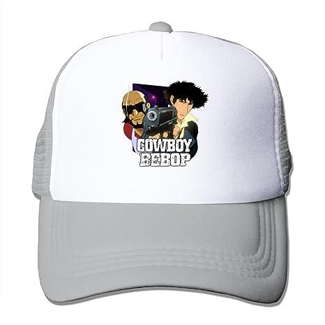 9a8bebdd2 Adults Cowboy Bebop Mesh Hat With Adjustable Snapback Strap Ash ...