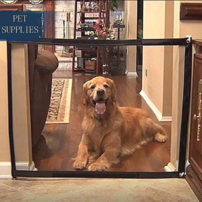 Amazon.com: Portable Pet Barrier Folding Breathable Mesh Net Dog Separation Guard Gate Pet Isolated Fence Enclosure Dog Safety Supplies,France,L 180X72CM: Baby