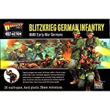 Bolt Action Blitzkrieg! German Infantry Figures 1:56 WWII Military Wargaming Plastic Model Kit
