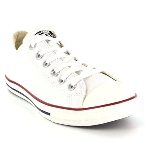 f74d63de59ff Mens Converse All Star Lean Low Top Chuck Taylor Ox Lace Up Sneakers -  White -