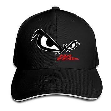 Hittings Unisex No Fear Owl s Eyes Sandwich Baseball Cap Black ... ea249c287ed