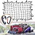 "3'x4' Super Duty Bungee Cargo Net Stretches to 6'x8' for Oversized Rooftop Cargo Rack & Small Trucks | Narrow 3""x3"" Grid Holds Small & Large Loads Tighter 