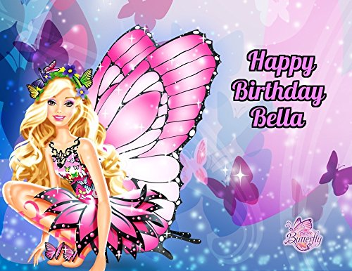 Barbie Fairytopia Edible Image Photo Cake Topper Sheet Personalized Custom Customized Birthday Party - 1/4 Sheet - 79704]()