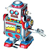 Mini Multi-color Wind Up Robot Toy