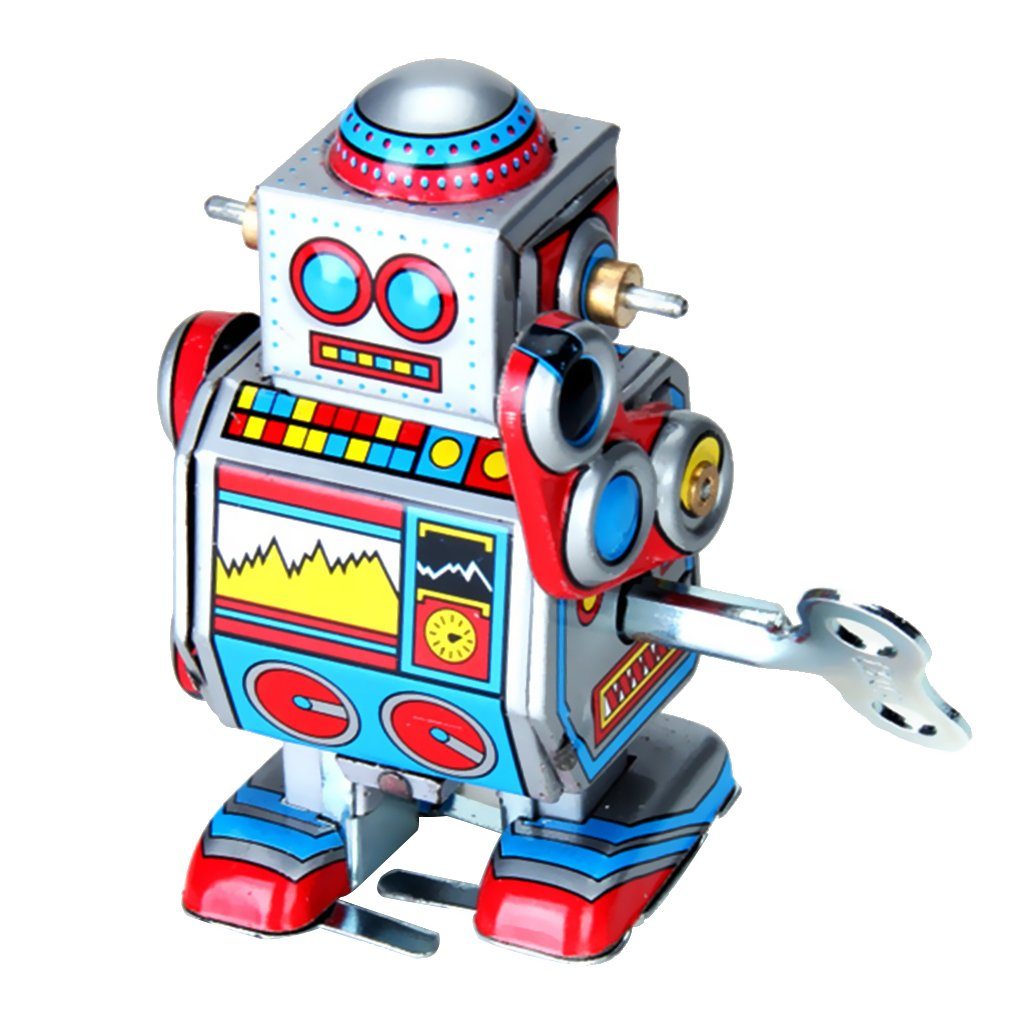 Mini-Multi-Color-wind Up Roboter Spielzeug Generic