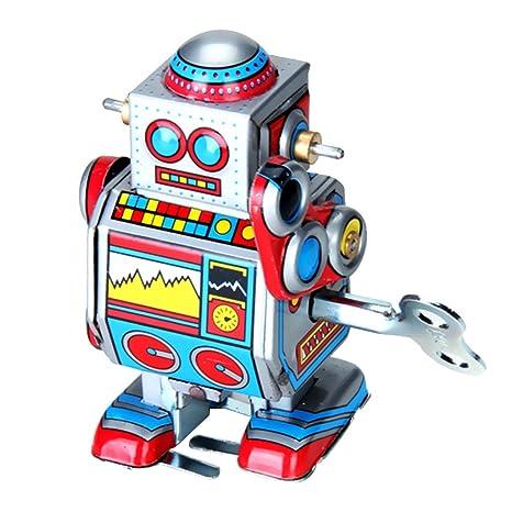 Mini Robot De Cuerda A Cuerda Juguete Multi-color Wind Up