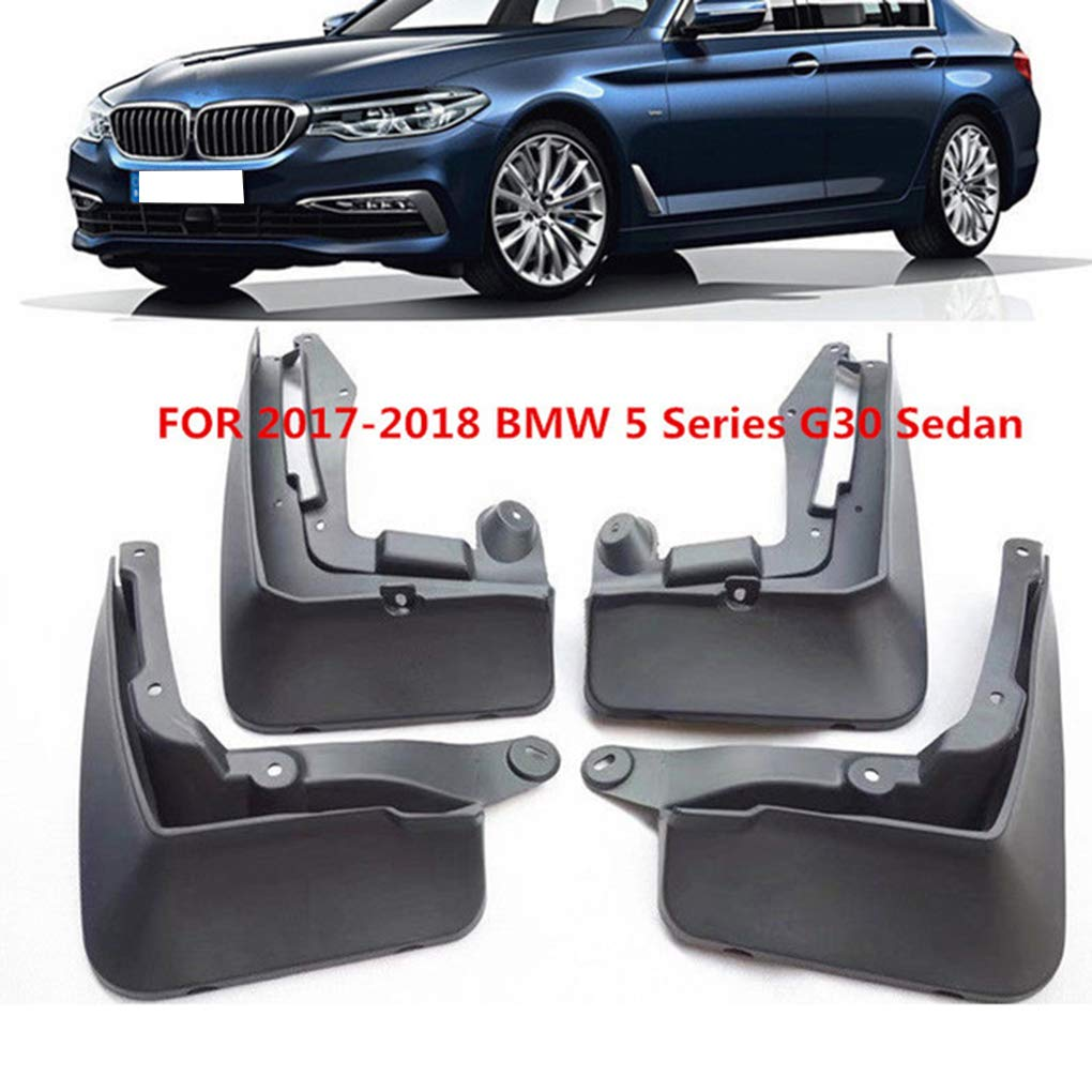 Dpolrs 4PCS//Set Car Splash Guards Mud Flaps Replacement for 2006-2018 BMW 5 Series G30 Auto Mudguard Fender