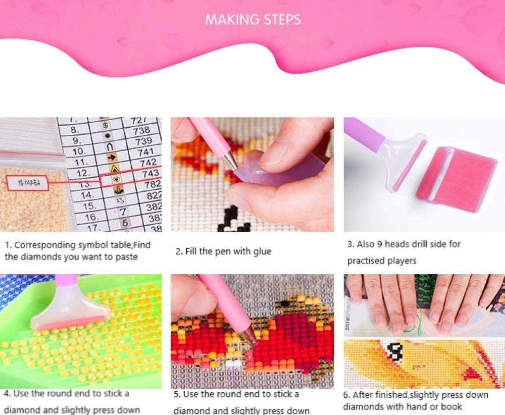 """TOPDP 2 Pack 5D Diamond Painting Kits for Adults Kids Full Drill Dotz DIY Embroidery Home Wall Decor Cross Stitch Craft Art 12/""""x16/"""""""