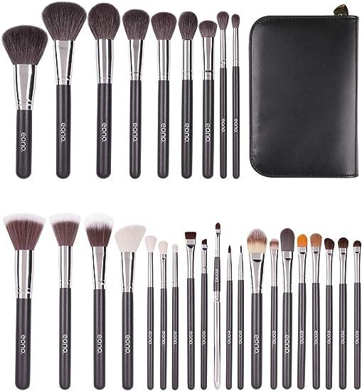 Eono by Amazon - Set de Brochas de Maquillaje Profesional, 29pcs Kit de Maquillaje para Difuminar Base