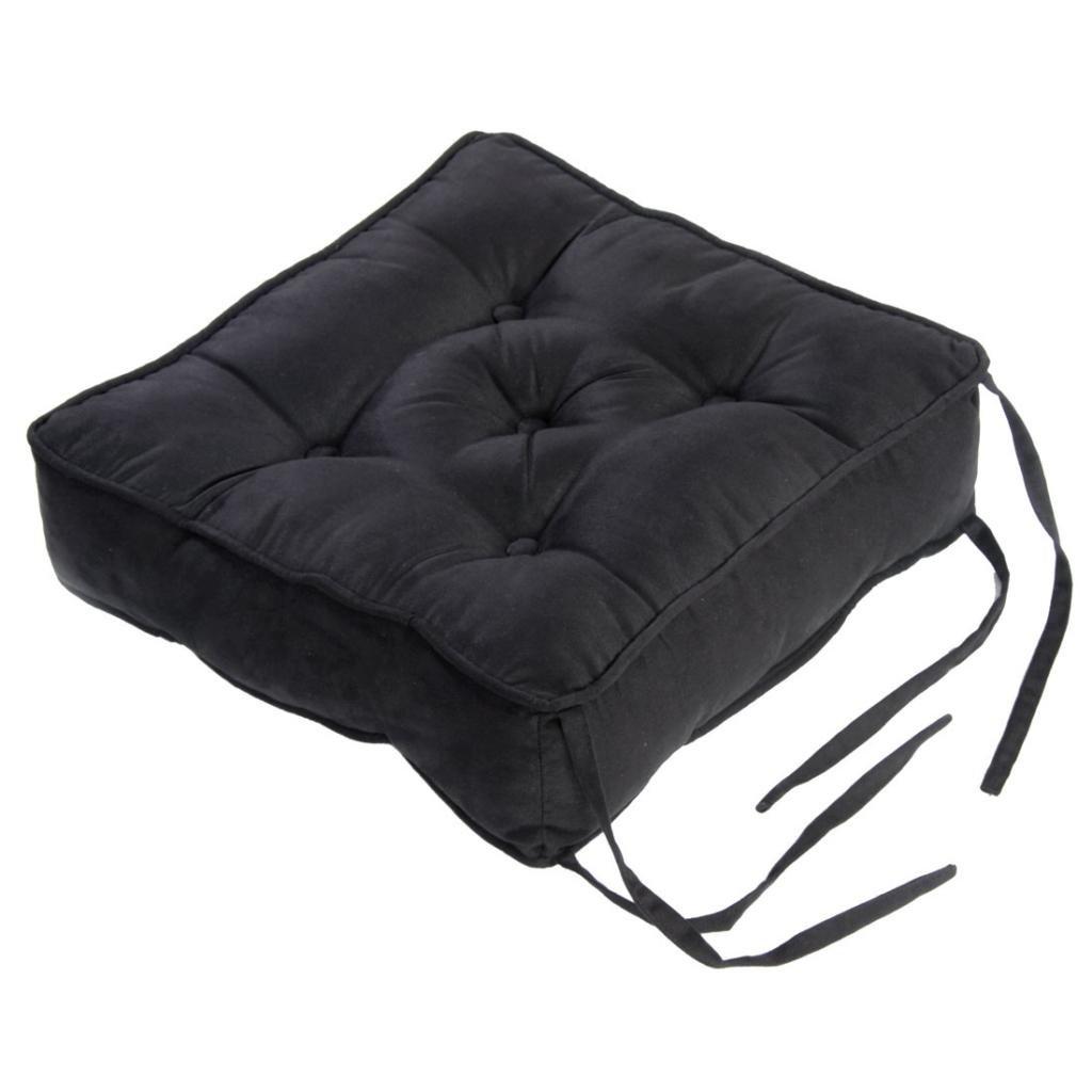 Homescapes Cojín acolchado en cuero terciopelo para sillas ...