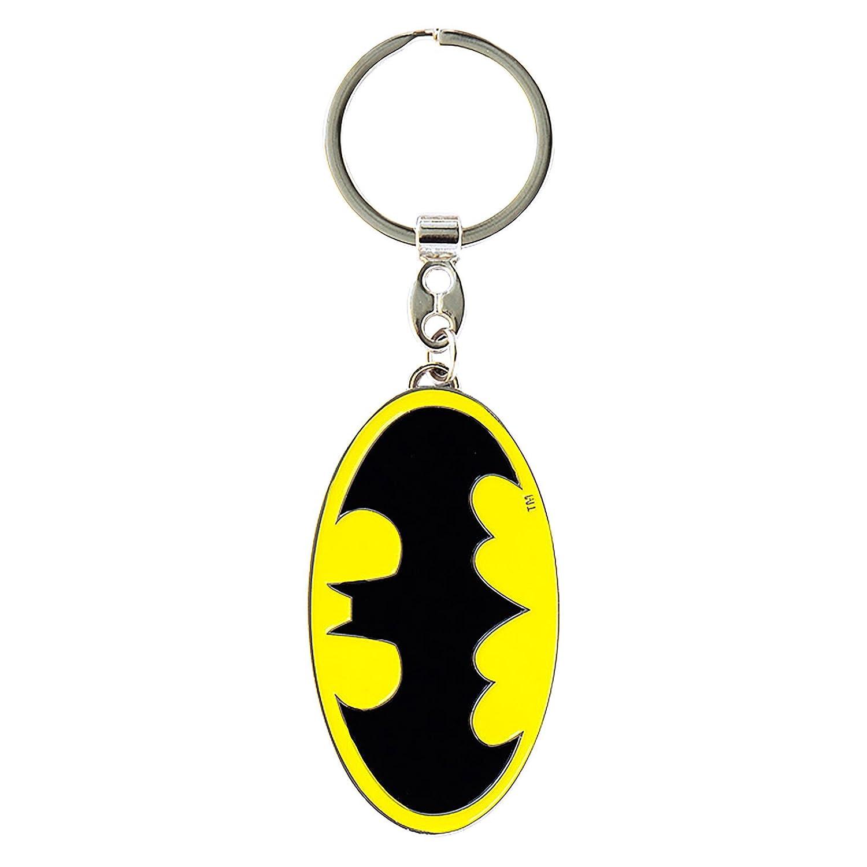 Batman Logo Schlüsselanhänger LOGOSHIRT DC Comics Superheld Keyring