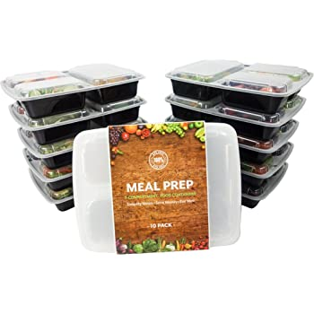 meal prep containers bpa free healthy lunch storage 3 compartment sectioned. Black Bedroom Furniture Sets. Home Design Ideas