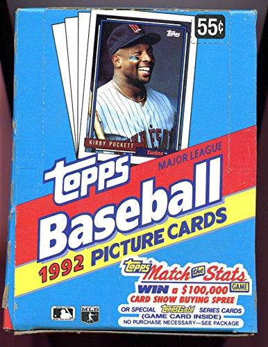 1992 Topps Baseball Wax Pack Box Manny Ramirez Rookie Card