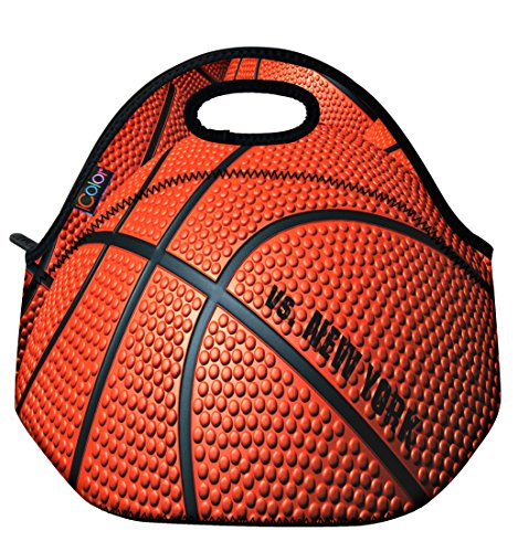 Basketball Insulated Neoprene lunchbox Container