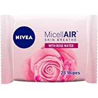NIVEA Micellar Cleansing Wipes, Skin Breathe Rose MicellAIR, 25 pieces