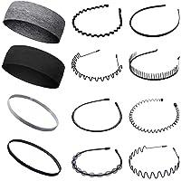 12 stks multi-style metalen haar hoepel plastic hoofdband flexibele kam haarband antislip elastische sport hoofdbanden…