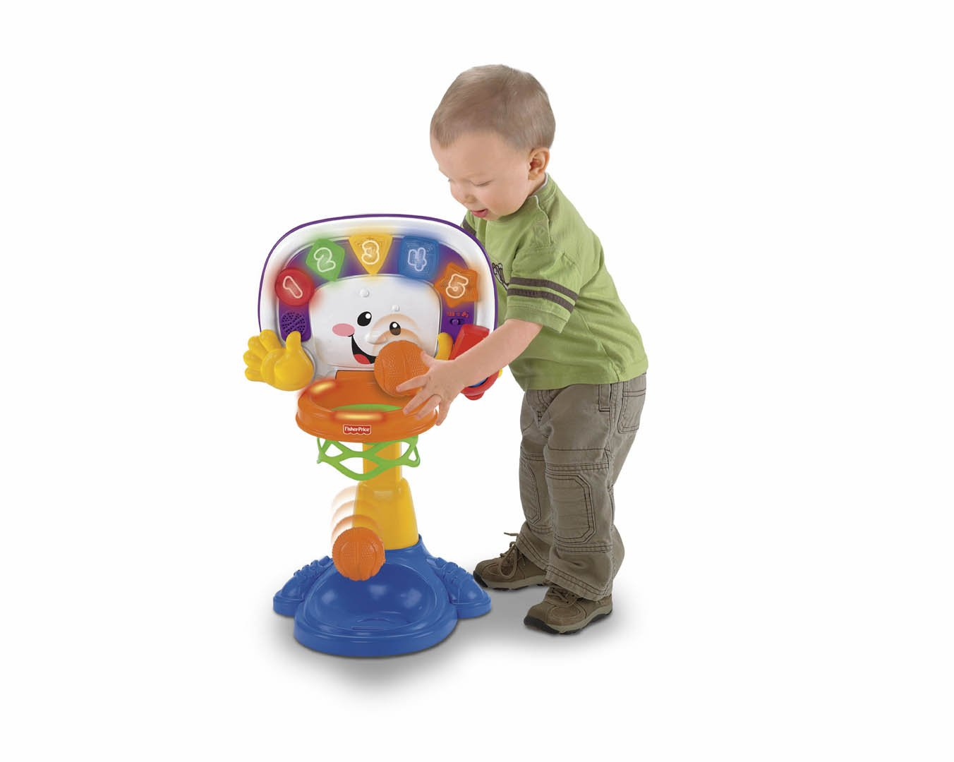 Amazon.com: Fisher-Price Laugh & Learn Basketball: Toys & Games