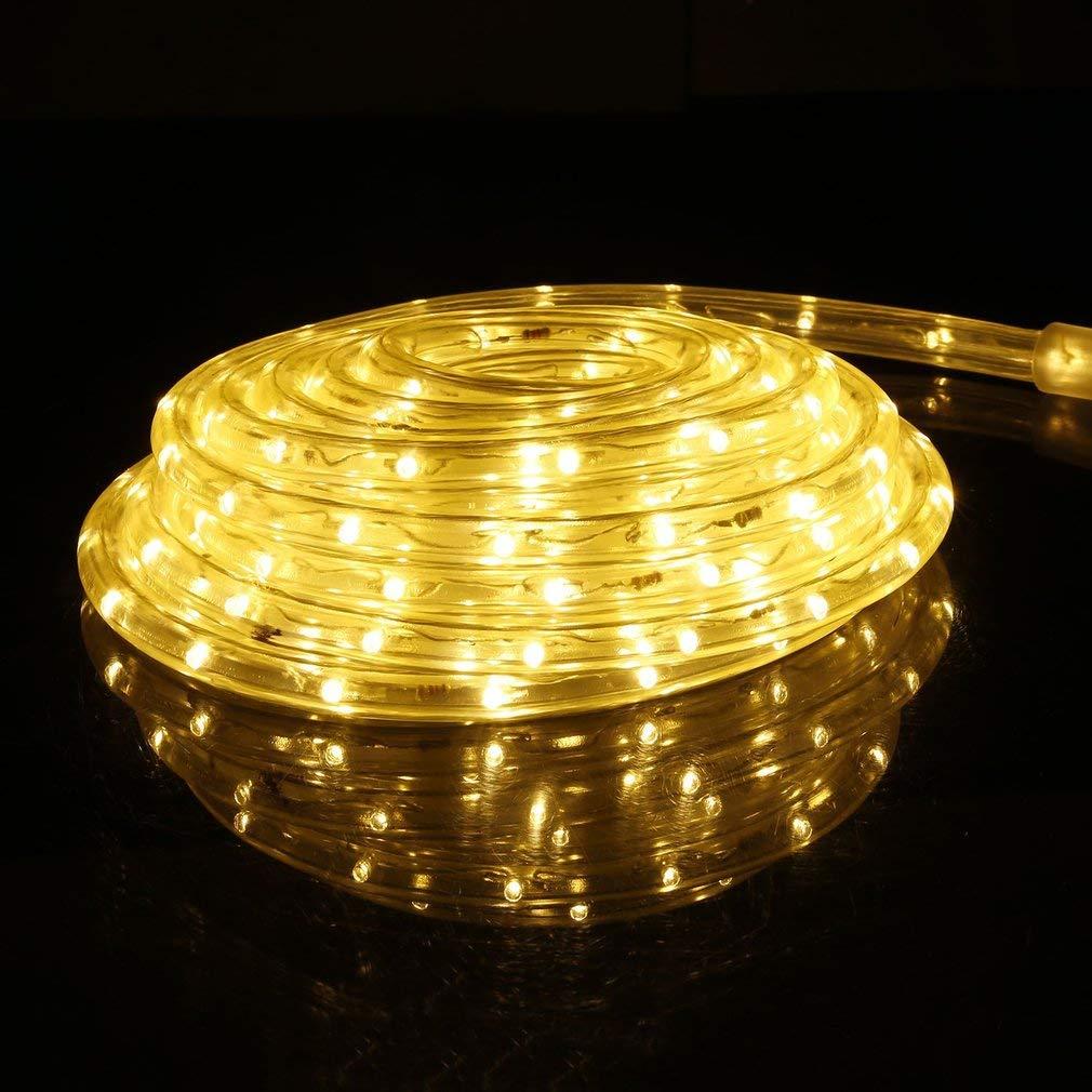 BigButterflyde LED Lichterschlauch 720er LED Lichter Innen und Außenbereich Lauflichter für Saal, Garten, Weihnachten, Hochzeit, Party - Warmweiß (10M) Party - Warmweiß (10M)