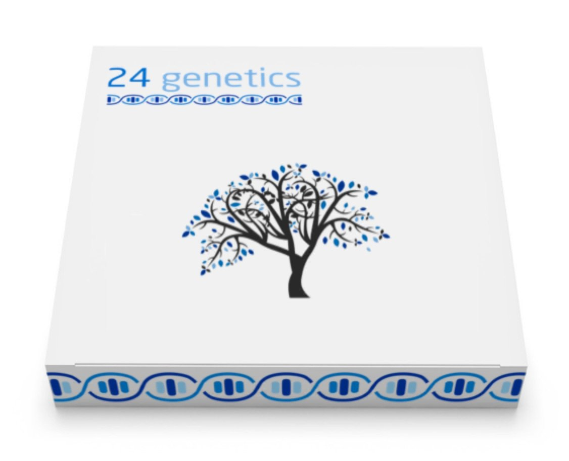 24Genetics all-in-one DNA Test for Ancestry (Regional), Health, Nutrigenetics, Pharmacogenomics, Skin Care and Sports. Includes at-home swab collection kit