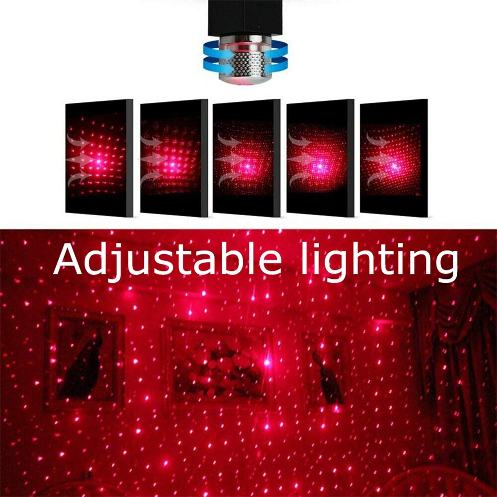Plug and Play Car and Home Ceiling Romantic Night USB Light Proiettore di Luce per Decorazioni Natalizie Compleanno Luce viola, 1 pezzi Lampada per Atmosfera Auto Luce Ambientale Interna Stelle