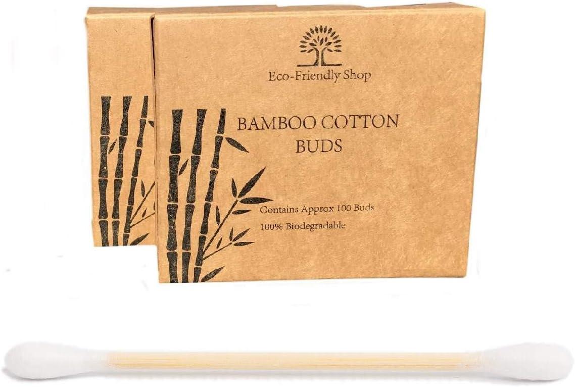 Bambú algodón Buds 100% natural biodegradable madera Ear Swabs ...