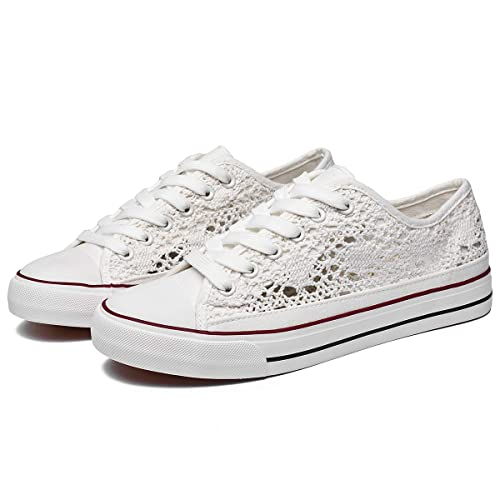 9b8ceb74695c7 ZGR Women's Fashion Canvas Sneakers Mesh Knitted Upper Low Cut Casual Shoes