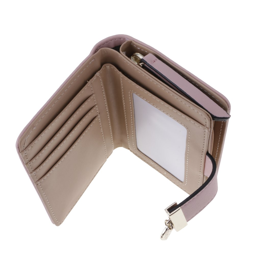 HuntGold2 Women Hollow Leaves Snap Short Wallet Fashion PU Leather Purse Card Holders Large Capacity