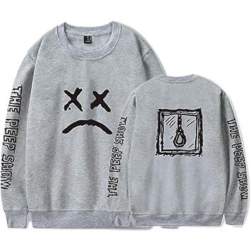 JJZHY EMO Trap Lil Peep Cuello Redondo y Camiseta de Manga de Terciopelo Unisex: Amazon.es: Deportes y aire libre