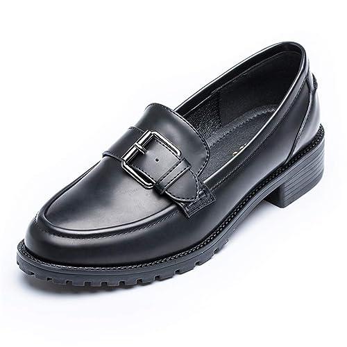 Zapato Retro Oxford para Mujer OtoñO Metal Hebilla Antideslizante Microfibra Damas Slip-On De TacóN Bajo Zapatos Mocasines: Amazon.es: Zapatos y ...