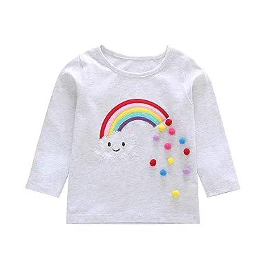 2ec637cd7714b7 Zerototens Kids Long Sleeve T-Shirt,0-4 Years Old Toddler Baby Boys ...