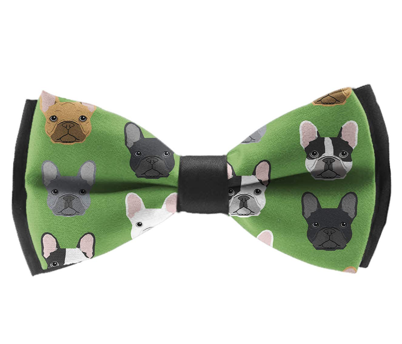 Green Frenchie Dog Pre-Tied Party Bowtie INWANZI Classic Adjustable Bow Tie for Men /& Boys
