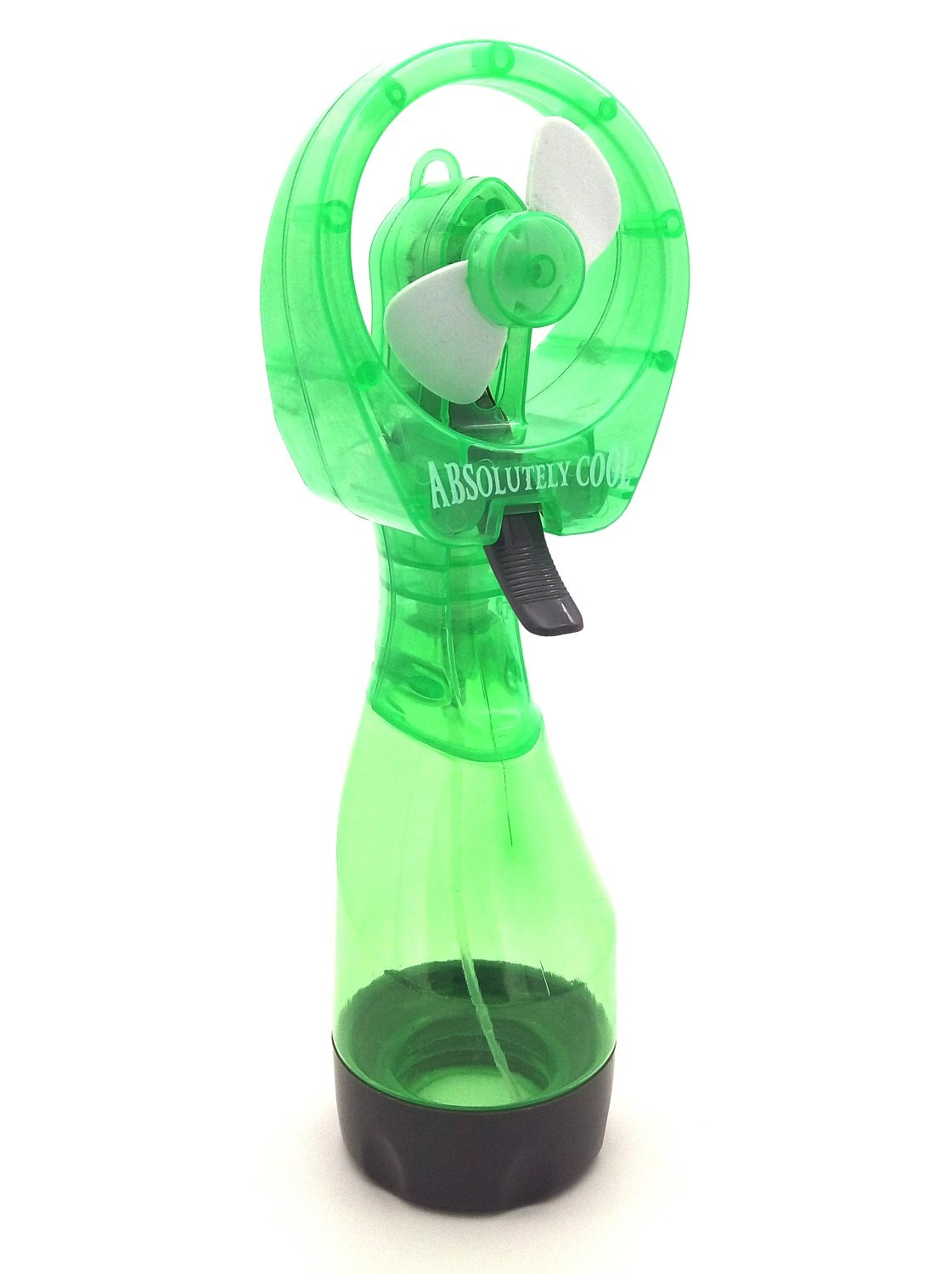 S'beauty Portable Handheld Water Misting Fan Outdoor Carabiner Mini Fan Hand Atomizer for Summer Beach, Travel, Camping, BBQ and More Outdoor Activities (Green)