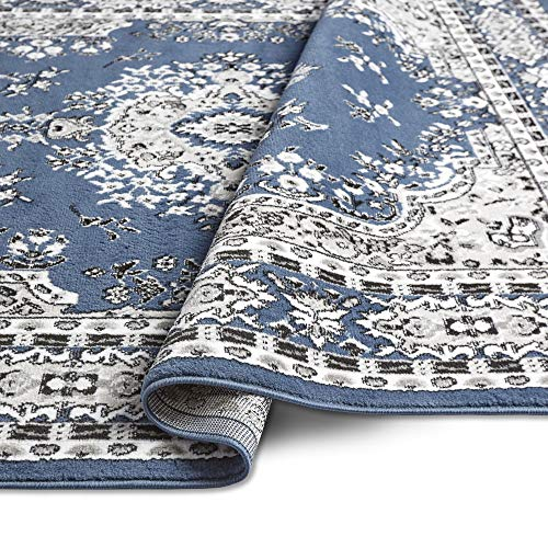 "Home Dynamix Premium Asiana Traditional Area Rug, Oriental Midnight Blue 5'2""x7'4"""