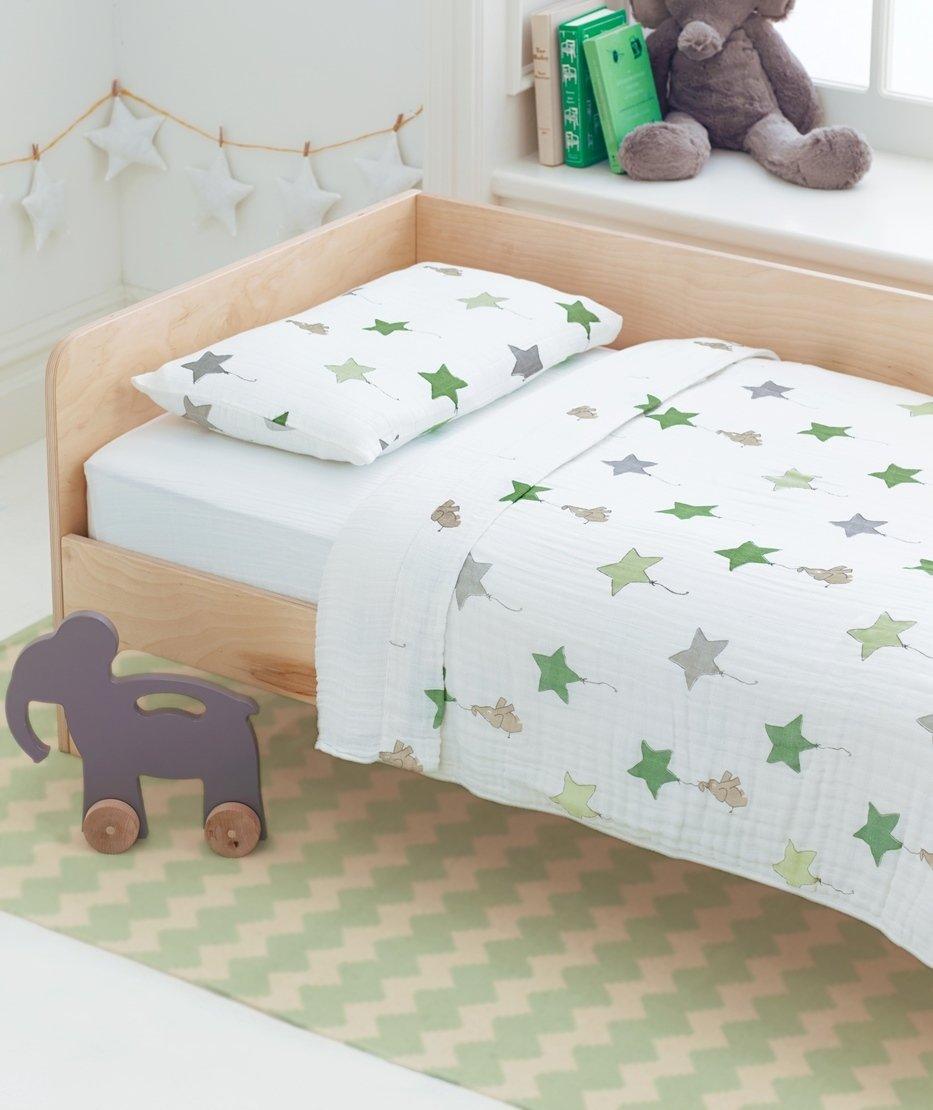 aden + anais Classic Toddler Bed in a Bag - Fluro Pink Kids Bedding Sets: Toddler Bedding, Toddler Pillow, Cotton Blanket ADEAN 8503