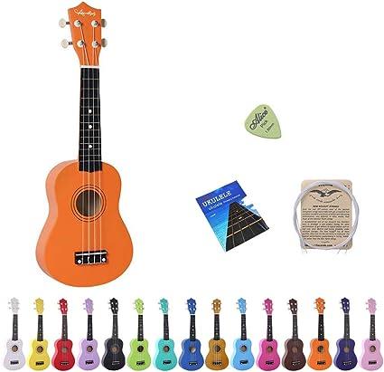 Amdini 21 Pulgadas Soprano Ukelele Tilo Mini Guitarra Acústica con ...