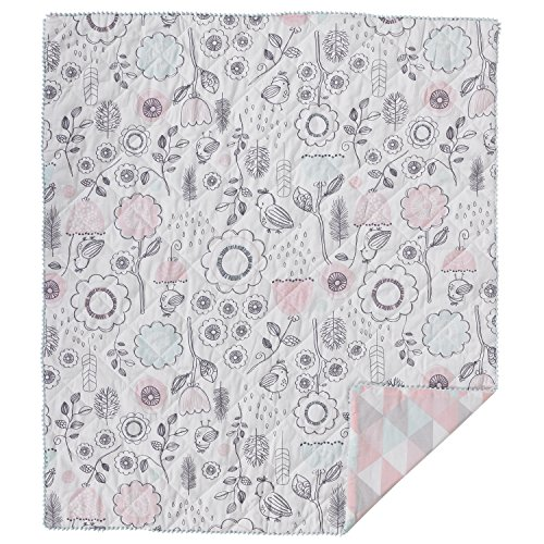 Lolli Living Quilted Comforter - Sparrow Print - Modern Comforter, Cotton Shell, Soft Baby Comforter For Crib, Stroller&Tummy Time, Beautiful Addition To Nursery (Quilted Crib Set)
