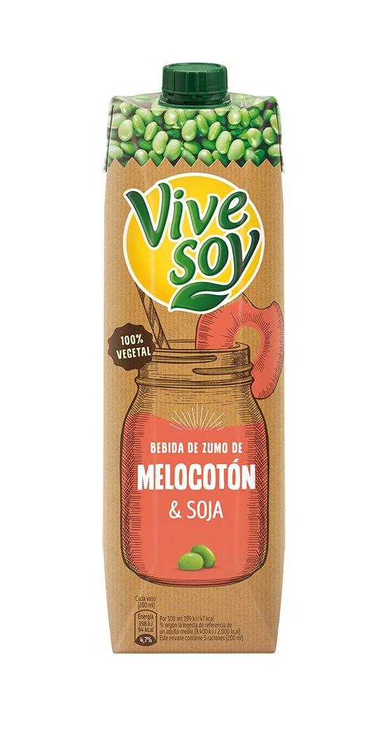 Vivesoy - Bebida de Zumo de Melocotón y Soja - 1 L: Amazon.es: Alimentación y bebidas