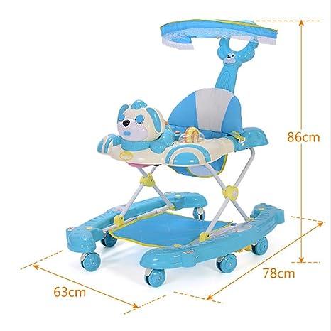 GUO T-utilidad de vuelco bebé carro andador andador con ...
