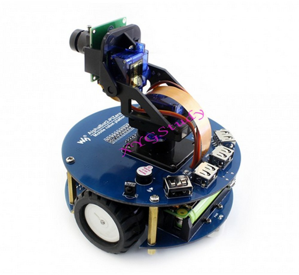 CoolWind NEW AlphaBot2 Robot Building Starter Kit Accessory Pack for Raspberry Pi Zero W + Camera IR remote controller Ultrasonic sensor (no PiZero)