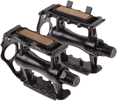"Bike Accessories One Pair Aluminium Alloy Pedals Flat for Mountain Bike 9//16/"""