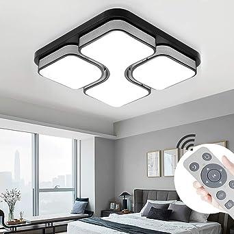 MYHOO 36W LED Modern Deckenleuchte Dimmbar Deckenlampe Wohnzimmer ...