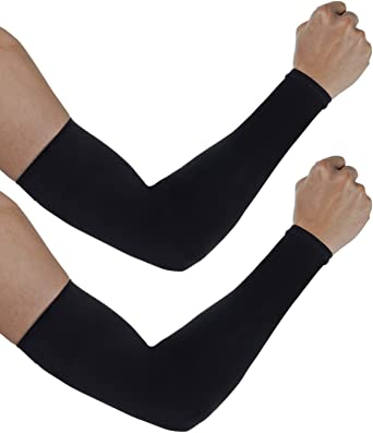 Cycling Arm Sleeves UV Sun Protection Lycra Arm Warmers Arm//Elbow Protector