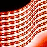 Zone Tech 30cm Flexible Waterproof Red Light Strips - 8-Pack LED Car Flexible Waterproof Red Light Strips